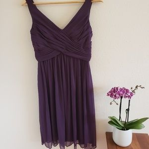 Gorgeous plum dress with open back. Comfortable!